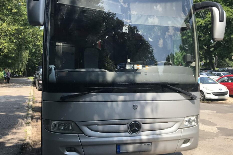 Zdjęcie frontu autokaru